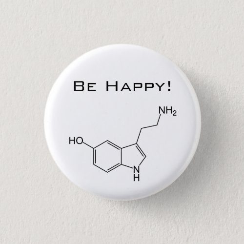Be Happy Serotonin Button