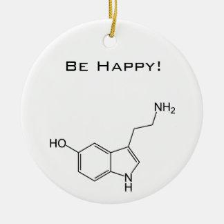 Be Happy! Serotonin Ceramic Ornament
