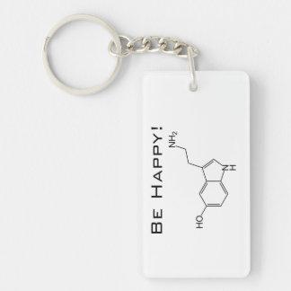 Be Happy! Serotonin Keychain