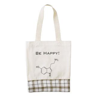 Be Happy! Serotonin Zazzle HEART Tote Bag