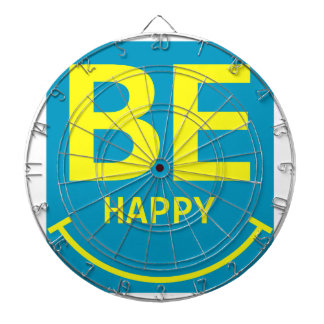 Be happy smile dartboard with darts