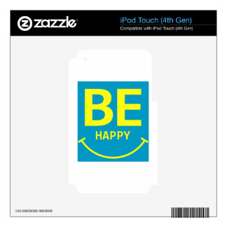 Be happy smile iPod touch 4G decal