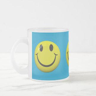 Be Happy Smiley Face Frosty Mug