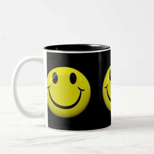 Be Happy Smiley Face Mug