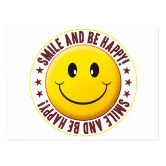 Be Happy Smiley Postcard