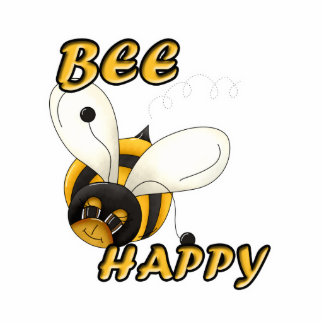 Be Happy Smiling Bee Photo Cut Outs