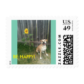 Be happy! stamp