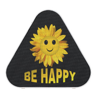 Be Happy Sunflower Smiley Face Speaker