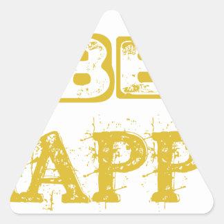Be Happy Triangle Sticker