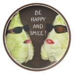 Be Happy und smile ! Dinner Plate