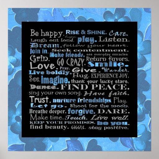 Be happy wall print.