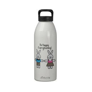 Be Happy Reusable Water Bottle
