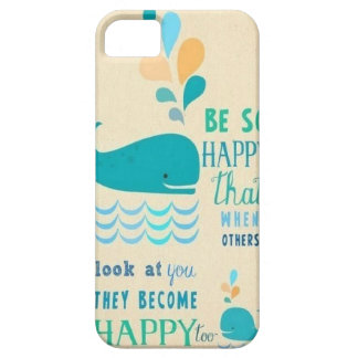 Be Happy whale iPhone 5 case