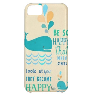 Be Happy whale iPhone 5 case!