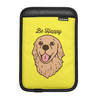 Be happy with the cute Golden Retriever iPad Mini Sleeve