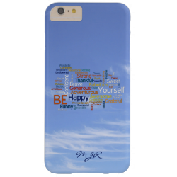 Be Happy Word Cloud in Blue Sky Inspire Barely There iPhone 6 Plus Case