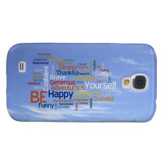Be Happy Word Cloud in Blue Sky Inspire Samsung S4 Case
