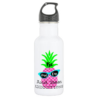Be Hard Core and Beat Addictions! Stainless Steel Water Bottle