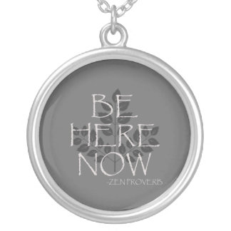 Be Here Now Silver Plated Necklace