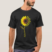 Be Here Tomorrow Sunflower Semicolons T Shirt
