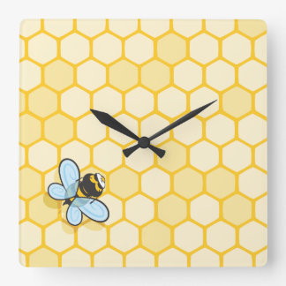 Be Hive Square Wall Clock