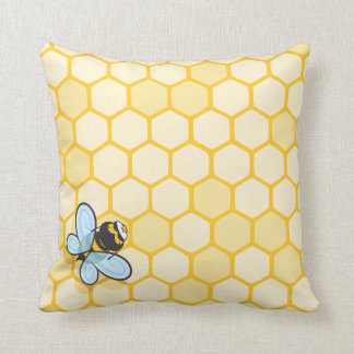 Be Hive Throw Pillow