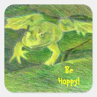 Be Hoppy Frog Sticker