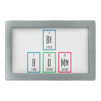 Be Human Periodic Table Science Design Rectangular Belt Buckles