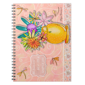 Be Inspired by Beauty and Simplicity Notebook