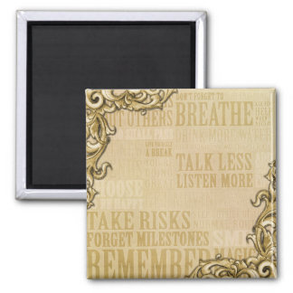 Be inspired Framed 2 Inch Square Magnet