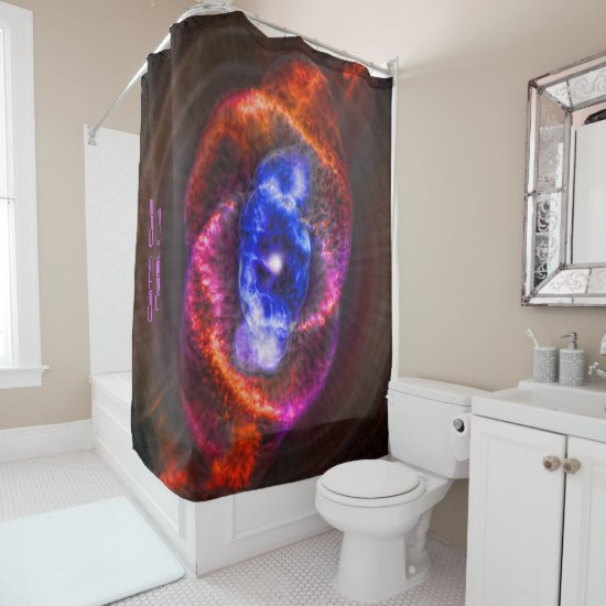 Be invigorated by showering in White Dwarf Light Shower Curtain