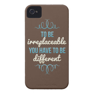Be Irreplaceable Be Different Blue Brown iPhone 4 Case