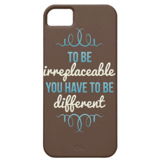 Be Irreplaceable Be Different Blue Brown iPhone SE/5/5s Case