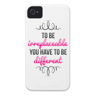 Be Irreplaceable Be Different Case-Mate iPhone 4 Case