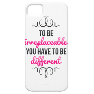 Be Irreplaceable Be Different iPhone SE/5/5s Case