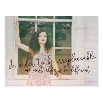 BE IRREPLACEABLE POSTCARD