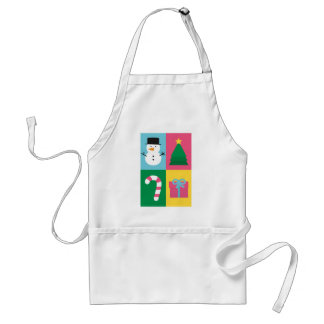 Be Jolly and Bright with Colourful Christmas Adult Apron
