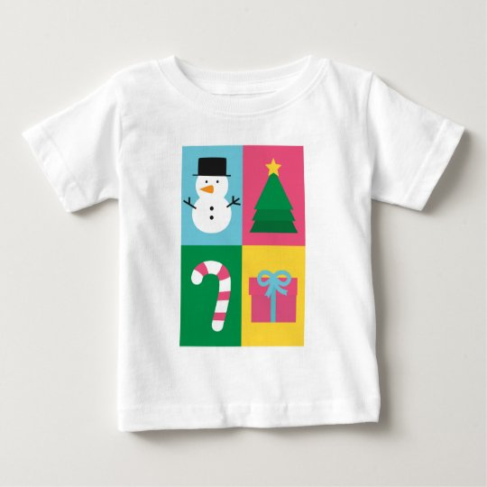 Be Jolly and Bright with Colourful Christmas Baby T-Shirt