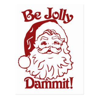 Be Jolly Christmas Humor Postcard
