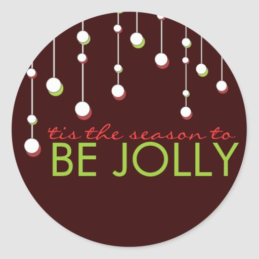 Be Jolly Modern Decoration Holiday Square Sticker
