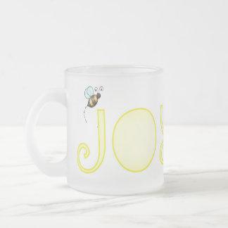 Be Joyful - A Positive Word Frosted Glass Coffee Mug