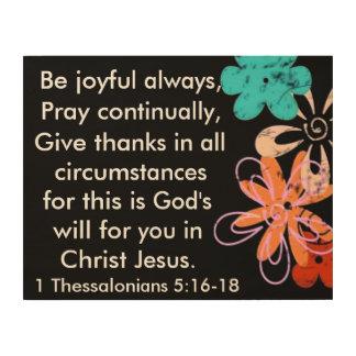 Be joyful always Christian bible verse Wood Wall Decor