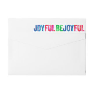 Be Joyful Colorful Holiday Letterpress Custom Wrap Around Label