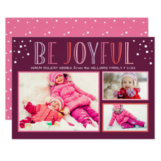Be Joyful | Holiday Photo Collage Card