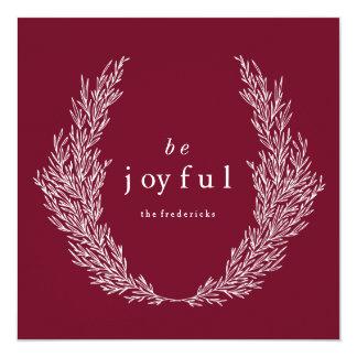 Be Joyful Modern Botanics Holiday Card