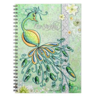 Be Joyful Peacock Notebook