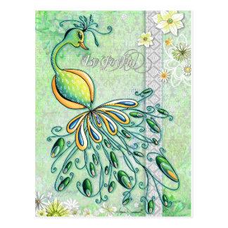 Be Joyful Peacock Postcard