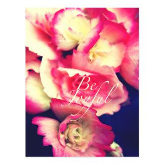 Be joyful postcard
