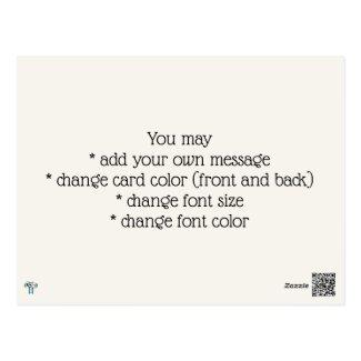 Be Joyful Primitive Font Illustrated Postcard