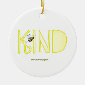 Be Kind - A Positive Word Ceramic Ornament